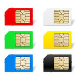 Sim card set Stock Photos