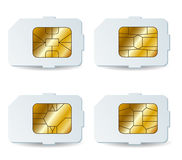 Sim card set Stock Photography