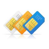 Sim Card Set. Vector Stock Photography