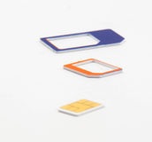 Sim card standard micro nano adapter Stock Image