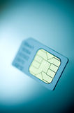 Sim Card Technology. A macro image of a mobile phone sim card Stock Images