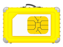 SIM-card for travel. Concept Stock Photo