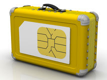 SIM-card for travel. Concept Stock Image