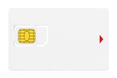 Sim Card vide avec la puce Images libres de droits