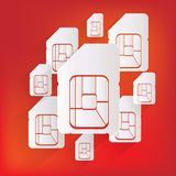 Sim card web icon Royalty Free Stock Images