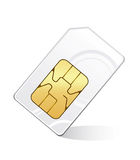 Sim card  on white  Sim card isolated on Royalty Free Stock Photo