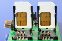 SIM cards. The module of the device for reading SIM cards Royalty Free Stock Images