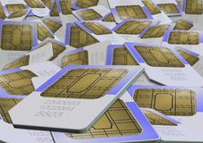 Sim cards Stock Photography