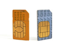 SIM cards. For cell phones stock photos