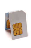 Sim cards. On white background Stock Photo