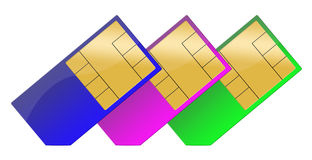 Sim cards Royalty Free Stock Images