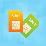Sim cards. Stock Photography