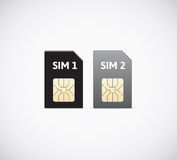 Sim cards. Royalty Free Stock Image