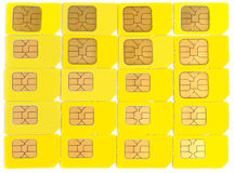 Sim cards isolated on white Stock Photography
