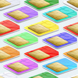 SIM cards seamless pattern background. Mobile Royalty Free Stock Photos