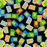 SIM Cards Seamless Pattern Stock Photography