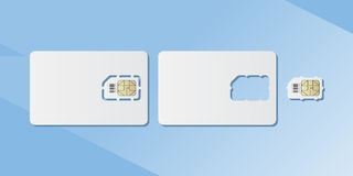 SIM cards for smartphone. Flat  illustration EPS 10 Stock Images
