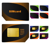 Sim cards vector Stock Image