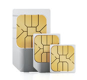 SIM cards Royalty Free Stock Photos