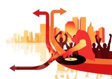 Sim DJ ilustração do vetor