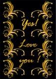 Sim e amor Fotografia de Stock Royalty Free