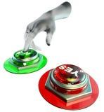 Sim e nenhuns botões ajustados Imagens de Stock