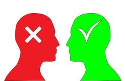 Sim e No. Imagem de Stock