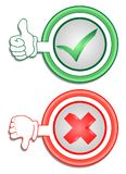 Sim e No. Fotografia de Stock Royalty Free