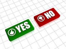Sim e No. Imagens de Stock Royalty Free