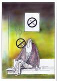 Sim fumando Fotografia de Stock Royalty Free