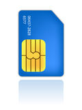Sim identity card mobile phone Stock Photography