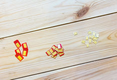 SIM-kaarten van verschillende vormfactor (norm, nano micro,) Royalty-vrije Stock Foto