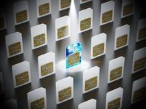 SIM-Karte 5G steht heraus unter Standardsim-karten Abbildung 3D Lizenzfreies Stockfoto