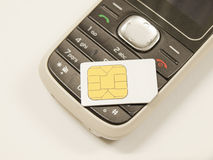 SIM Karte und Telefon Lizenzfreies Stockfoto