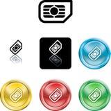 SIM Karten-Ikonensymbol Stockfotografie