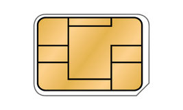 SIM-Karten-Illustration Stockfotos