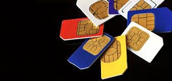 SIM-Karten-Nahaufnahme Stockfotografie
