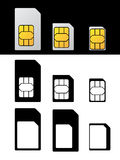 SIM-Karten-Standardmikronano-Adapter Lizenzfreie Stockfotografie