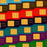 Sim karty kafelkowy tło Obraz Stock