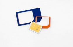 Sim karty standardowy mikro nano adaptator Zdjęcia Stock