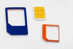 Sim karty standardowy mikro nano adaptator Obraz Royalty Free