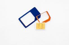Sim karty standardowy mikro nano adaptator Zdjęcie Royalty Free