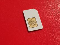 SIM-kort som används i telefoner Arkivbilder