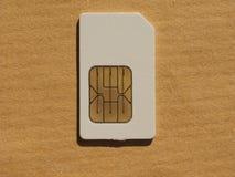 SIM-kort som används i telefoner Royaltyfria Bilder