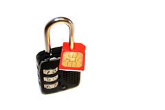 SIM-lock Royalty Free Stock Images