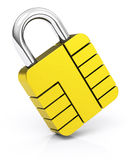 The SIM lock Royalty Free Stock Photos