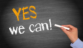 Sim nós podemos! Imagens de Stock Royalty Free