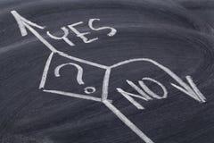 Sim ou decisão do No. Imagem de Stock Royalty Free