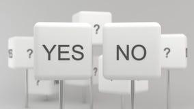 Sim ou No. Fotografia de Stock