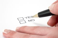 Sim ou No. Imagens de Stock Royalty Free